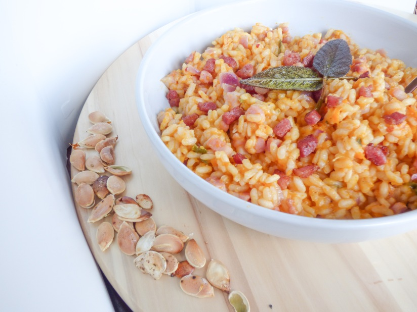 Bacon, Butternut Squash and SageRisotto