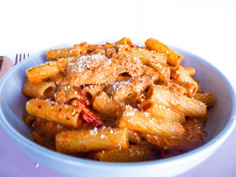 Creamy Tomato & ChickenRigatoni